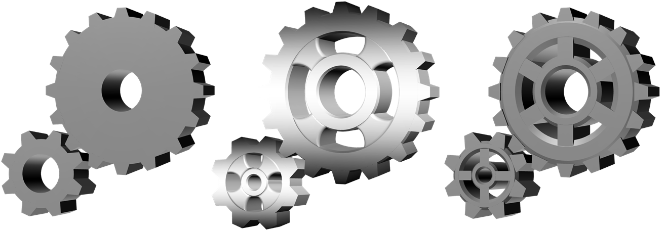 Gears clipart 3d gear In 5 Gears PowerPoint and