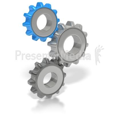 Gears clipart 3d gear Clipart 2649 Presentation Rotating Gear