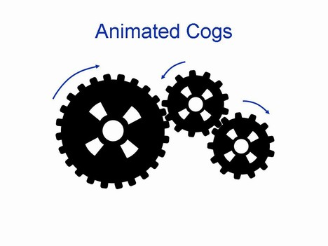Gears clipart animation Cogs  Animated