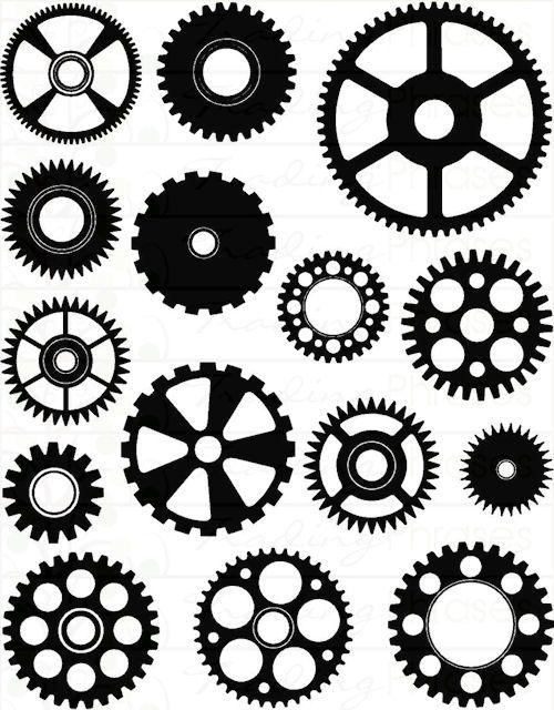 Gears clipart bicycle gear Wall art Best Gear 20+