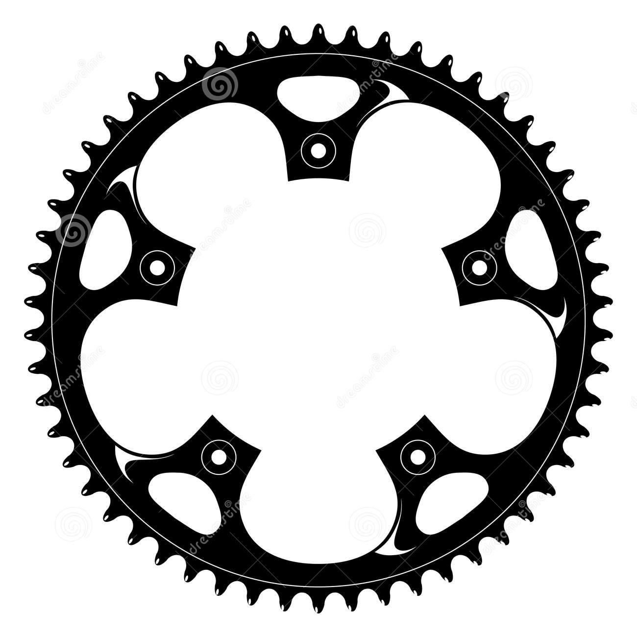 Gears clipart bicycle gear Silhouette gear bike Search tutorial