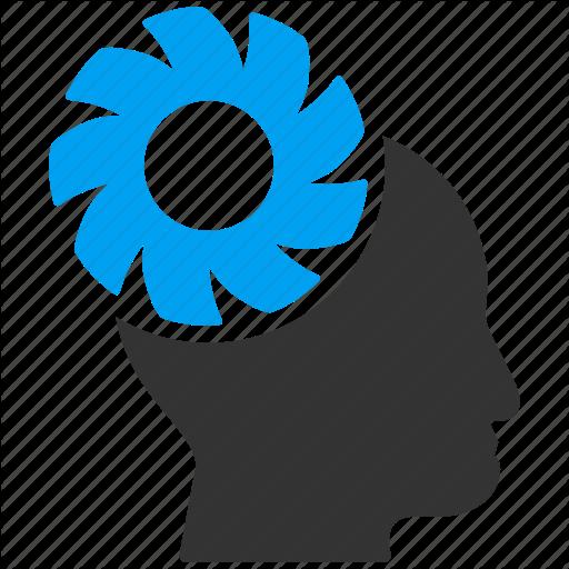 Gears clipart brain memory Icon brain  gear memory