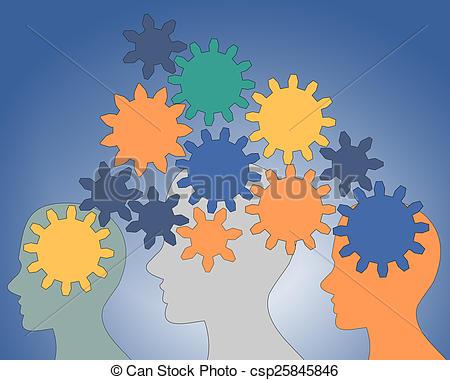 Gears clipart brain power Inside csp25845846 rotate  Gears