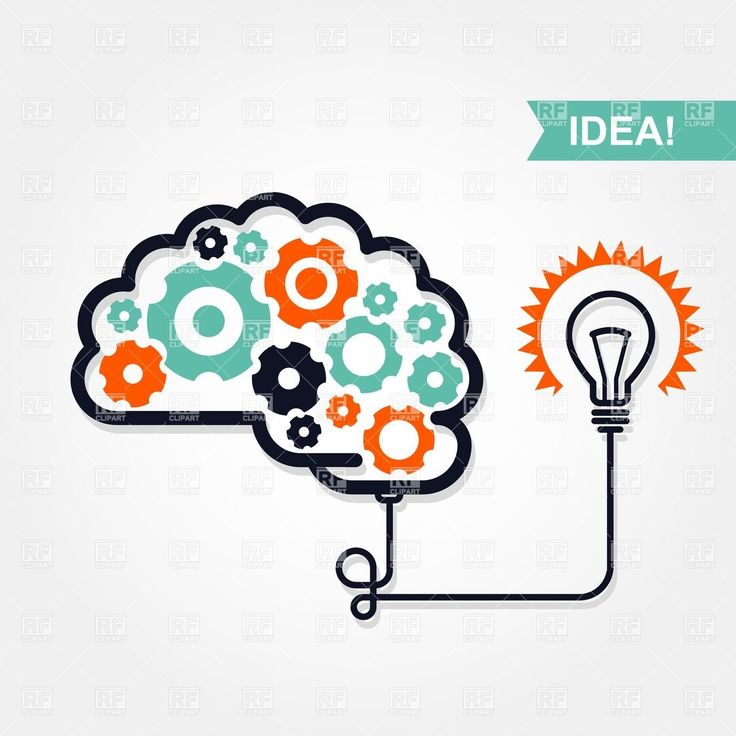 Bulb clipart brain The images idea Pinterest gear