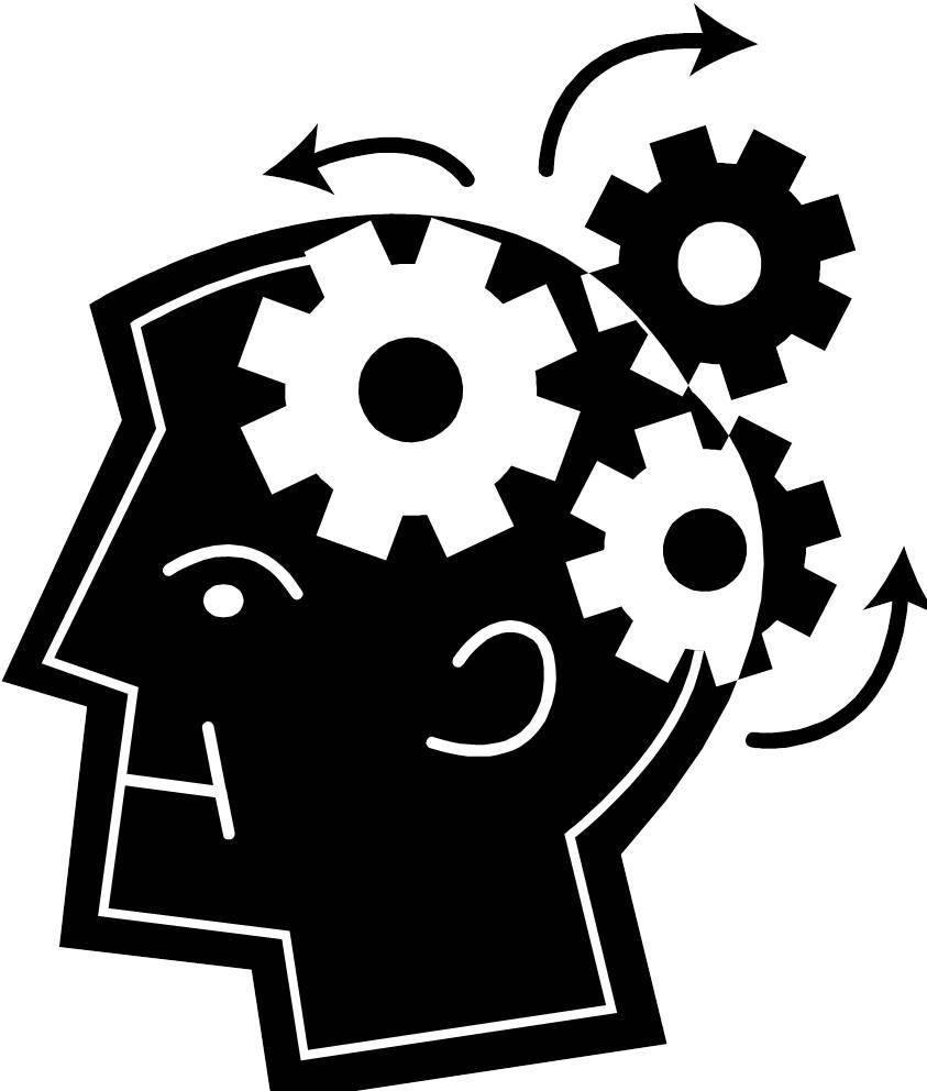 Mindteaser clipart head brain Brain Brain gears gears brain