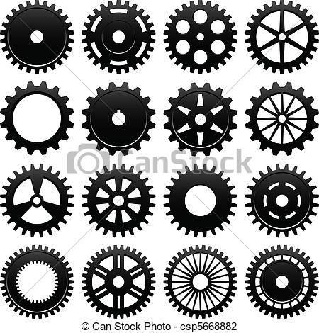 Machine clipart mechanical wheel Machine Gear Vector of Wheel