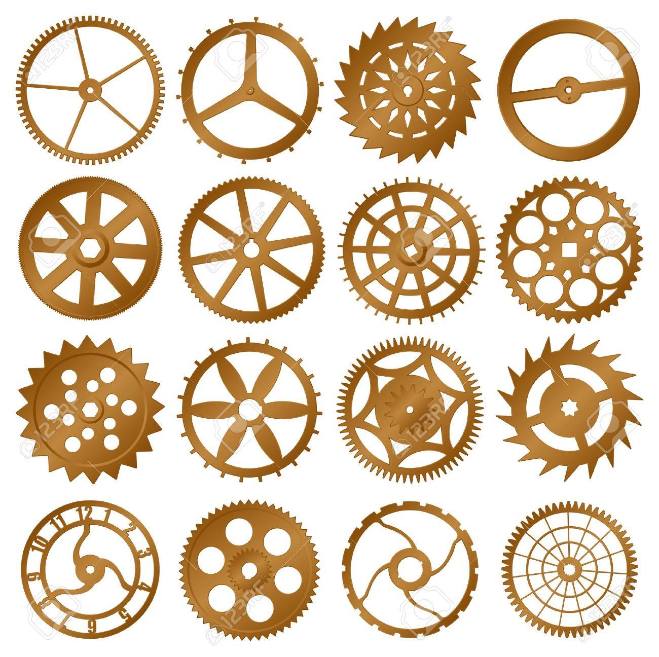 Gears clipart clock gear Elements  Patterns journal scrap