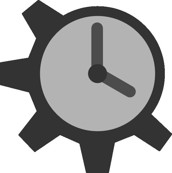 Gears clipart clock gear Image Clker Download vector art