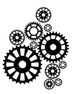 Gears clipart clock gear Steampunk Clocks gear  *