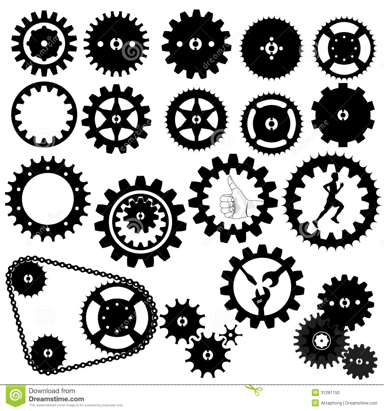 Gears clipart clock gear Clipart Gear cliparts Silhouette Gears