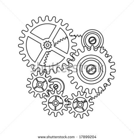 Gears clipart clock gear  shape clock clock Shutterstock
