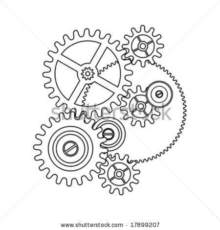 Clockwork clipart mechanical engineering My clock gear tattoo outline
