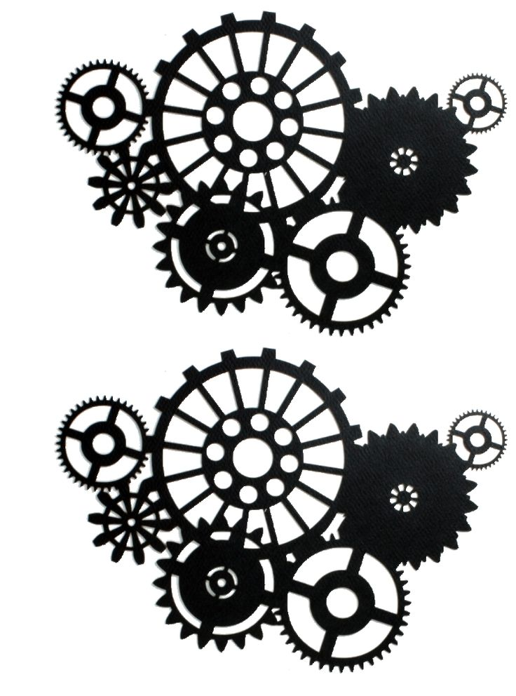 Gears clipart drawn Silhouette Clipart Gears Gear Steampunk
