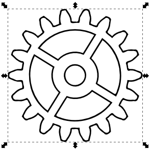 Gears clipart drawn In gears] Nicu's Inkscape How