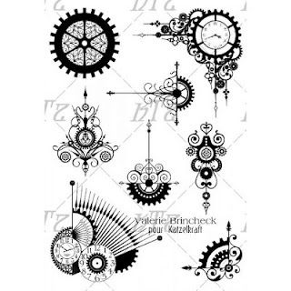 Gears clipart drawn Images Clockwork stamps new Pinterest