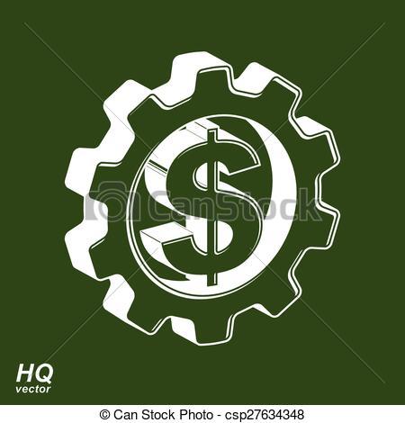 Gears clipart engineering symbol Theme eps8 High symbol green