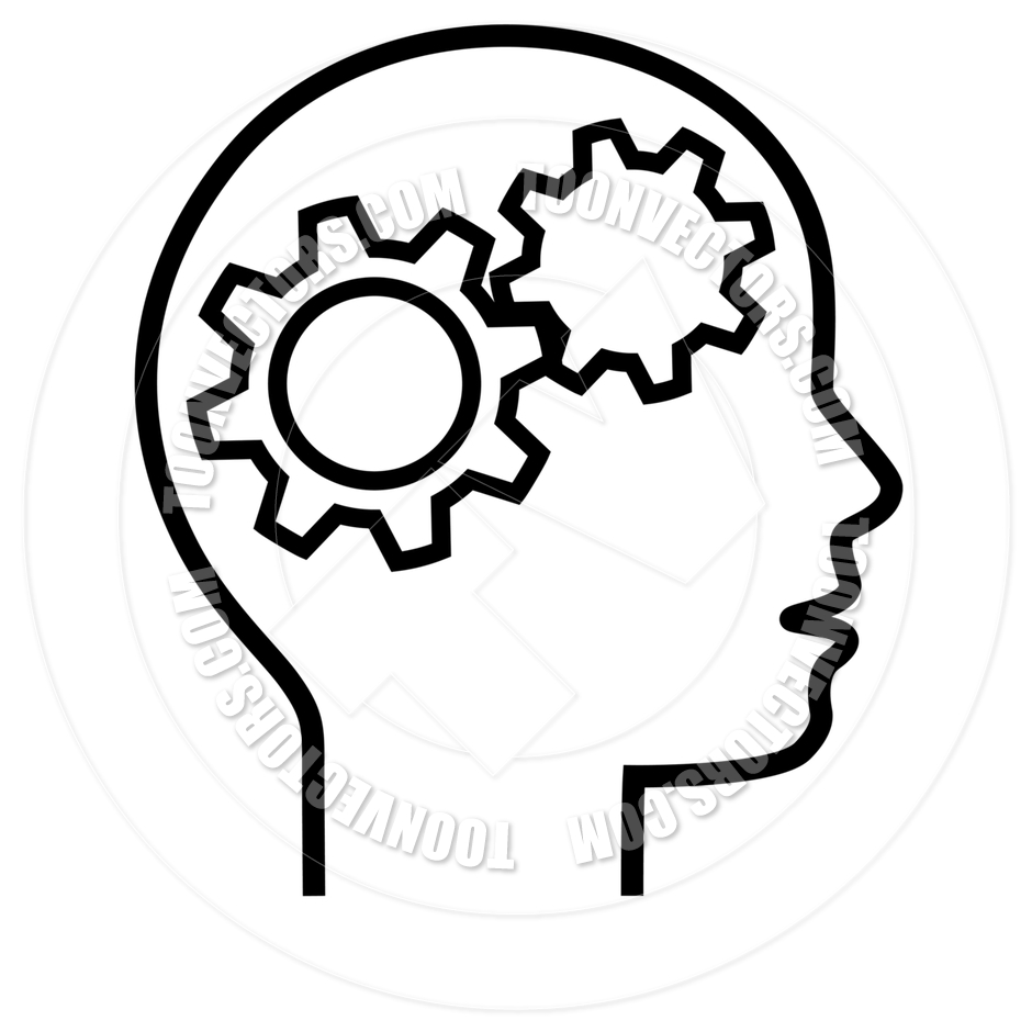 Brains clipart gear clipart Head Brain Thinker by Head