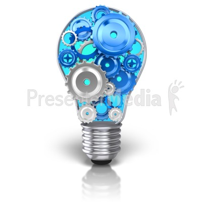 Gears clipart light bulb  Light and Bulb Clip