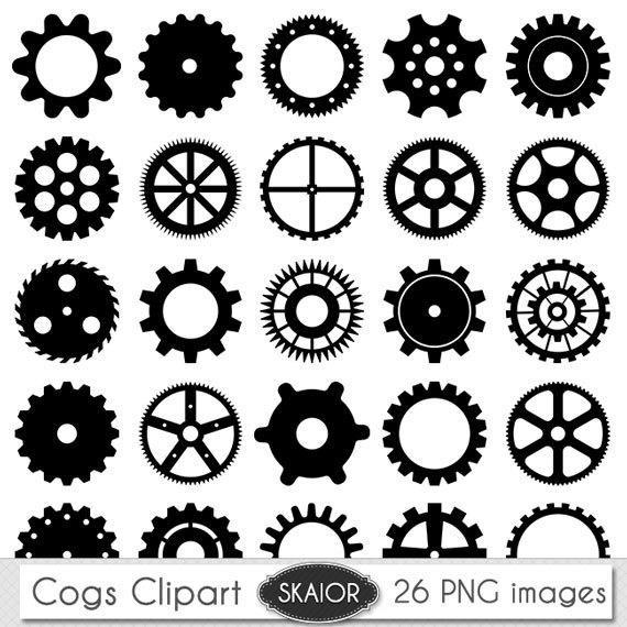 Compass clipart steampunk Cogs Cogs Vector Clipart Clipart