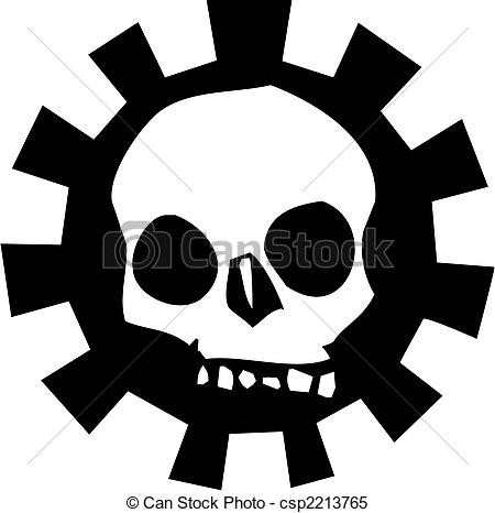 Halo clipart logo Human Gear Skull of Vector