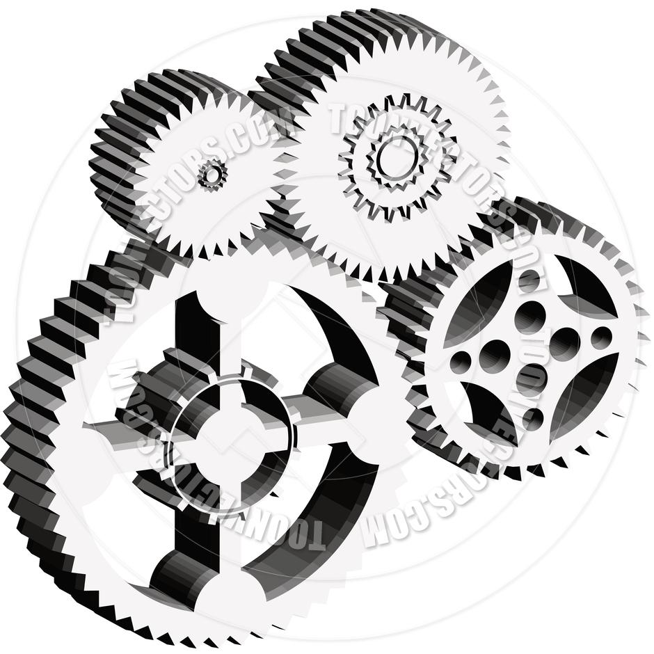 Gears clipart machine gear — Machine (6416) Clipart Free