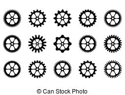 Gears clipart machinery Isolate machine of gear Vector