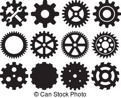 Gears clipart machinery Images collection vector machine gear