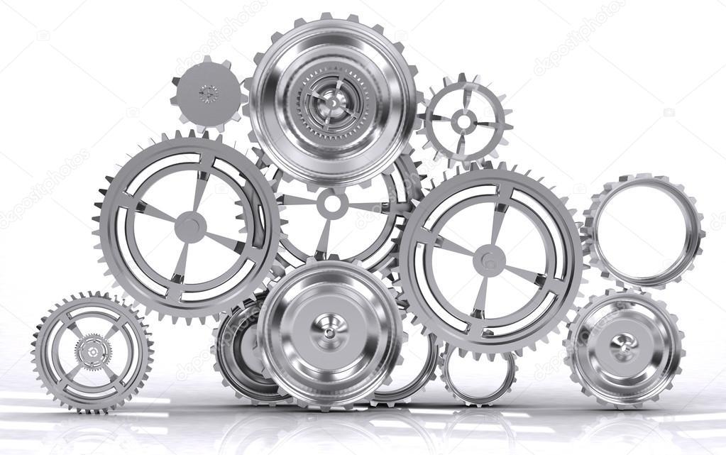 Gears clipart machinery ETC Machine gears ClipArt Gears
