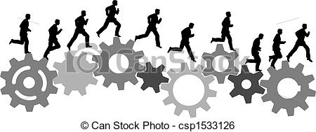 Gears clipart machinery Art industrial on man on