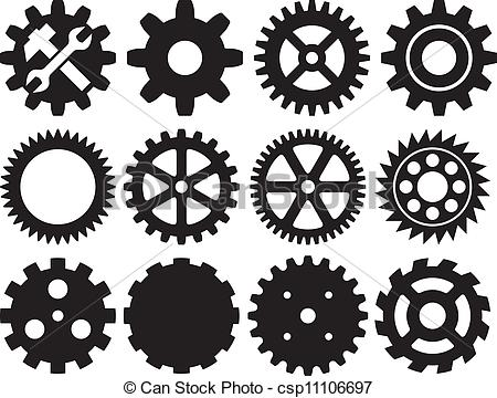 Gears clipart machinery (wheel collection of machine gear