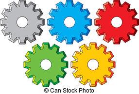 Gears clipart machinery  machine Machine gear Vector