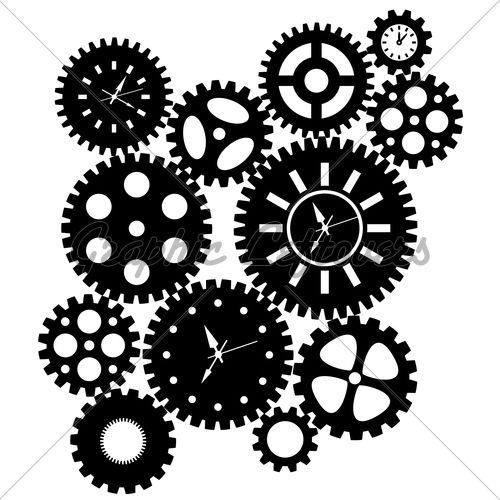 Gears clipart mechanical gear Art Clip gear best clocks