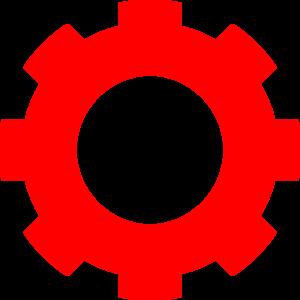 Gears clipart mechanical gear Gear Red online royalty Clip