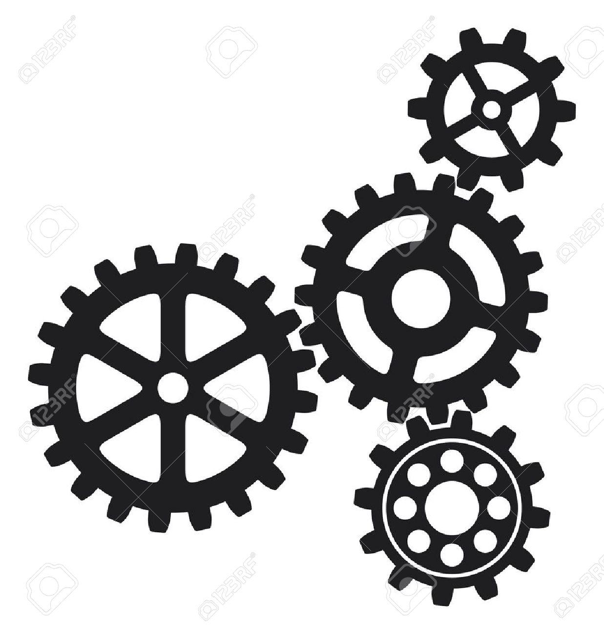 Gears clipart mechanical gear Growing 14974438 icon Stock gears