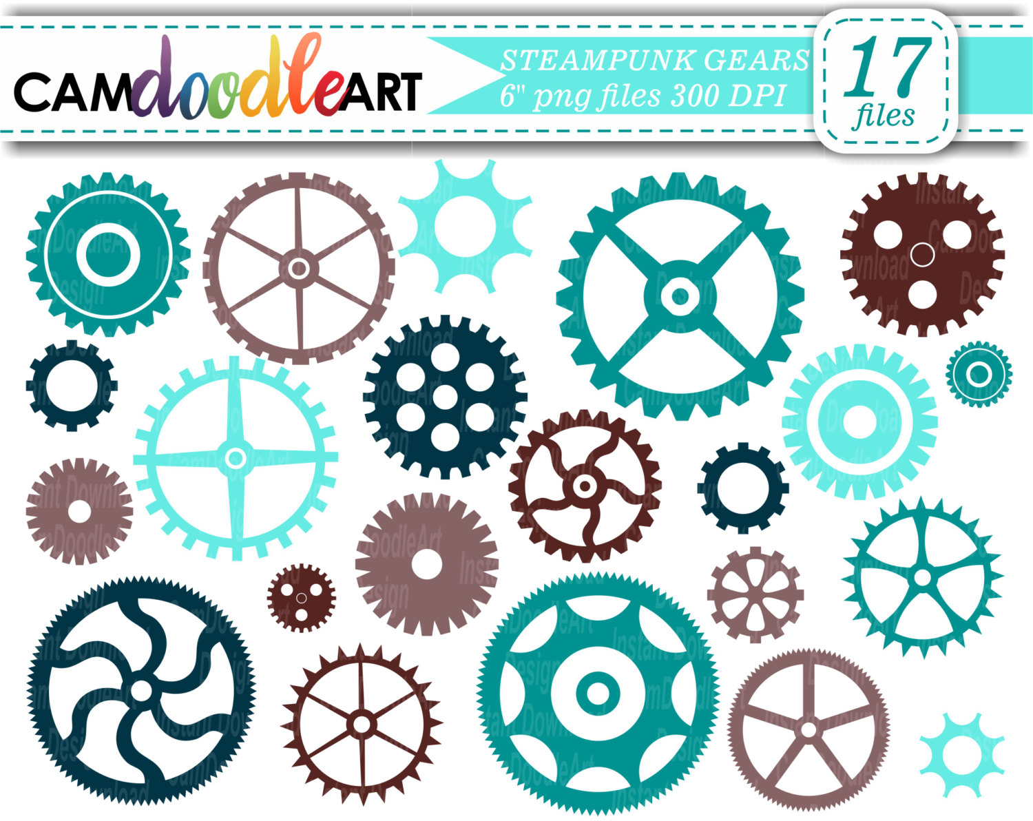 Gears clipart metal Clipart Brown Collection 383 Scrapbooking