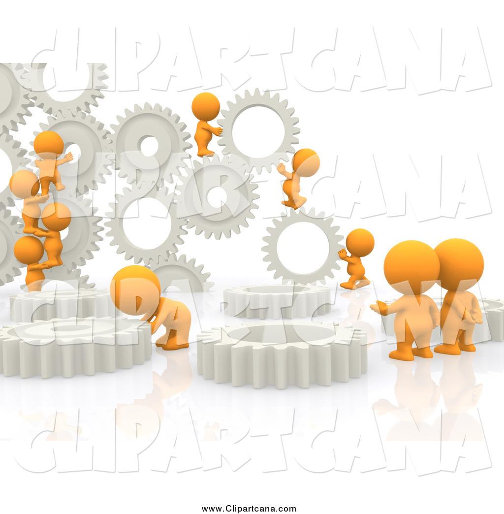 Gears clipart light bulb Free Orange Gears Working Designs
