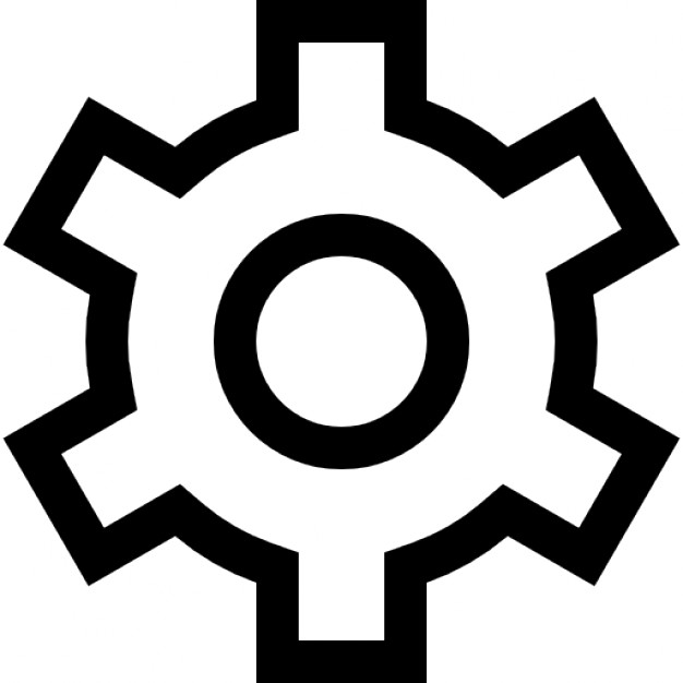 Gears clipart outline Free Icon Gear Gear Icons