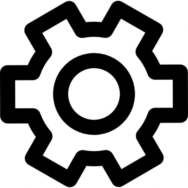 Gears clipart outline Download Free Icon Gear outline