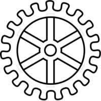 Gears clipart outline Silhouettes png png th th