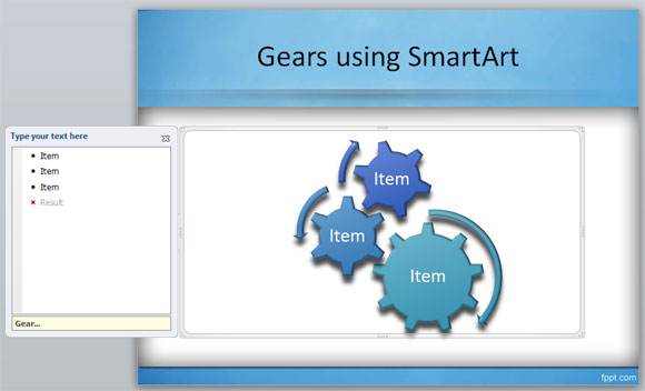 Gears clipart powerpoint In create SmartArt gear PowerPoint