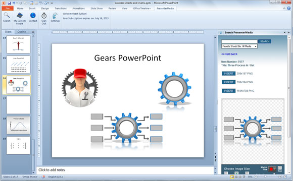 Gears clipart powerpoint In create SmartArt animated PowerPoint