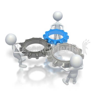 Gears clipart powerpoint Art and Teamwork PresenterMedia Clip