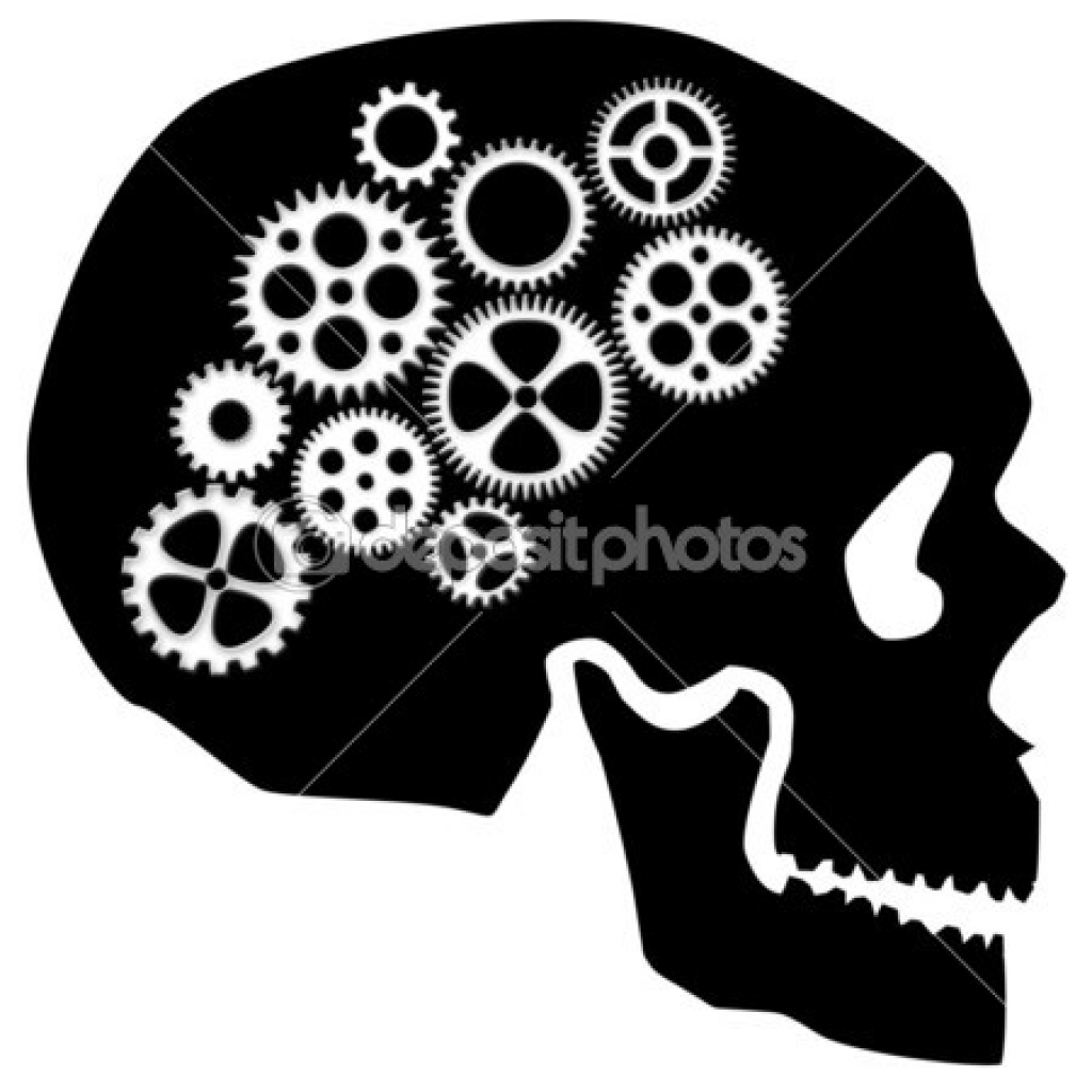 Brains clipart gear clipart Brain skull with 450 brain