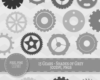 Gears clipart pulley gear Grey of gray Shade Gears