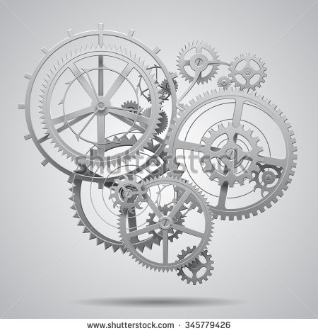 Gears clipart pulley gear Clocks and white Google black