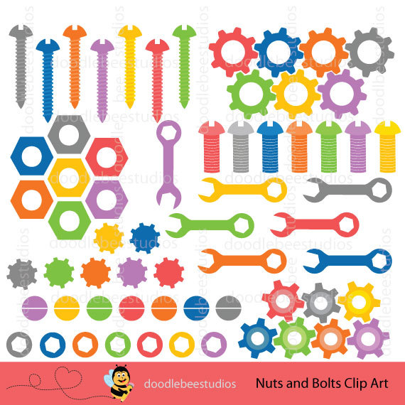Robot clipart nuts and bolt Clipart  Digital Art Clip
