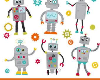 Robot clipart robot gear #1