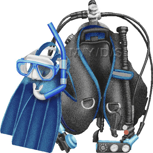 Scuba Diver clipart scuba gear #13