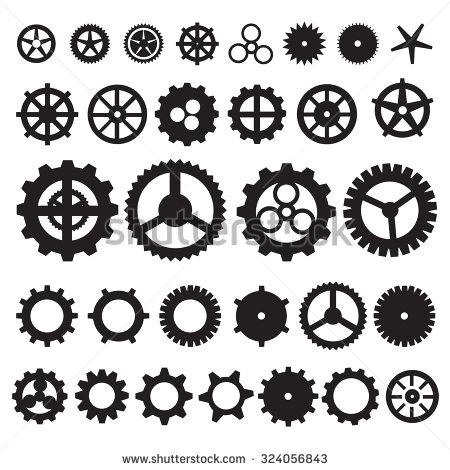 Machine clipart steampunk gear Clip Art Vector Stock Art