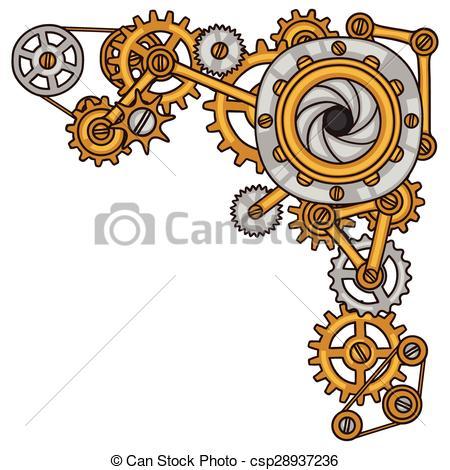 Machine clipart steampunk gear Gears style metal Steampunk in